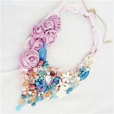 #summer #flowersbijoux #flowers #bijoux #jewellery #jewellerydesigner #handmadejewellery #accessory #accessories #necklace #moda #style #fashion #vogue #glamour #fattoamano #artigianato #silk #seta #cabochon #gems #italiaislove #solocosebelle #puglia #bloggers