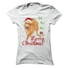 Christmas Toller T Shirts, Hoodies. Check price ==► https://www.sunfrog.com/Pets/Christmas-Toller-White-Ladies.html?41382 $19