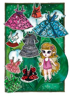 LILY* 1500 free paper dolls at Arielle Gabriel's International Paper Doll Society for Pinterest paper doll pals *