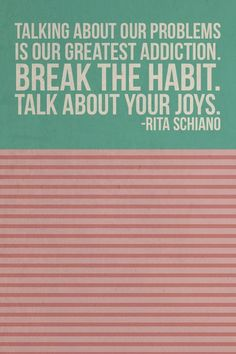 Talk about your joys & triumphs -- meeting a goal, dropping a pound, trying something new!