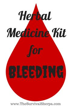 Herbal Medicine Kit: Bleeding | Survival Sherpa