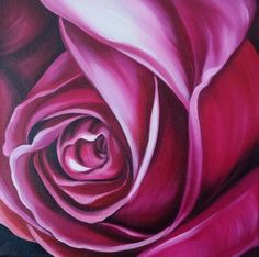 Dark Rose, oil on canvas, 30cm square $ 200