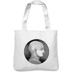 Mintage Antique Phrenology Head Museum Tote Bag