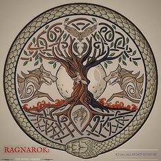 Yggdrasil, the World Tree – Norse Mythology-Vikings-Tattoo Yggdrasil Tattoo, Norse Tattoo, Celtic Tattoos, Viking Tattoos, Norse Mythology Tattoo, Viking Tattoo Symbol, Armor Tattoo, Warrior Tattoos, Wiccan Tattoos