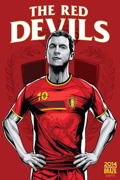 ESPN posters for 2014 FIFA World Cup by Cristiano Siqueira, via Behance