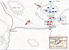 Map of the Battle of Talana Hill or Dundee on October 1899 during the Boer War by John Fawkes