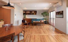 リビングダイニングキッチンが一体になった、広々とした空間