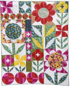 = free pattern = Modern Garden Quilt by Carrie Tasman for P and B Textiles. xxx
