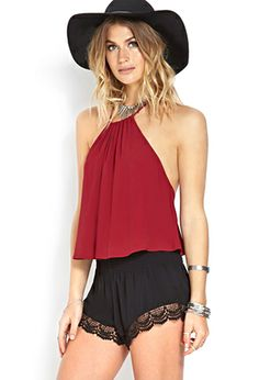 Whimsical Cutout Halter Top | FOREVER21 - 2000088183