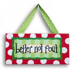 Better Not Pout Christmas Canvas www.whimsyandco.com