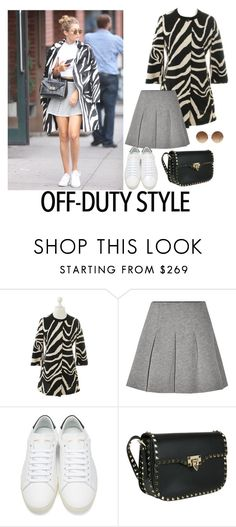 """Model style"" by chateaubeau ❤ liked on Polyvore featuring Diane Von Furstenberg, T By Alexander Wang, Yves Saint Laurent, Valentino and Victoria Beckham"