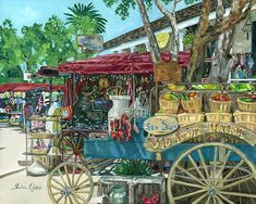 Old Town Market Art Print featuring the painting Old Town San Diego Market by Shalece Elynne Old Town San Diego, Great Paintings, Oil Paintings, San Diego Area, Fine Art Prints, Canvas Prints, Thing 1, Art Market, Beautiful Artwork