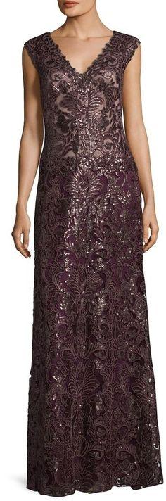 Tadashi Shoji Women's Salome Sequin Gown