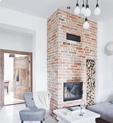 warm bricks fireplace