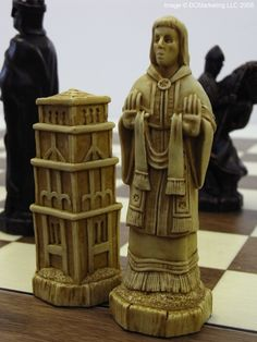 Battle of Hastings Plain Theme Chess Set