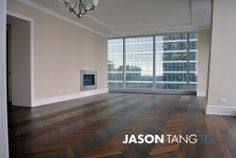 Ritz Carlton Residences 183 Wellington West. Love the hardwood herringbone floor and fire place in every unit.