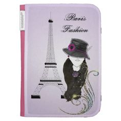 A great design on a great product, this lovely Paris Fashion Lady in shades of purple and black. An ideal gift and so easy to personalize with a name. #kindle #cases #paris #france #fashion #lady #personalized #purple #trendy #modern #book #cover #kindle #cover #kindle #case #fashion #illustrations #personalized #gifts #great #gift #ideas #girls #female #girly #portrait #mysterious #lady #french #lady #french #hat #flower #christmas #birthdays #gifts #presents #gift #ideas #accessories ...