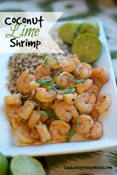 Coconut Lime Shrimp: Fun, fresh, and comes together in 15 minutes - Eazy Peazy Mealz