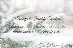 There's more to the holiday season than the commercialized version we've been fed. Here is how to simplify Christmas this year.