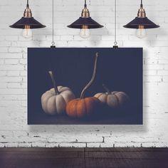Canvas Fall photograph Vintage style photography Kitchen decor art prints Fine Art Squash image Fall photo 8x10-16x20 Pumpkin Metal, Maple