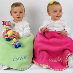 Personalised Blanket Medium (70x100) Choice of Colours** | Absolutely Adorable