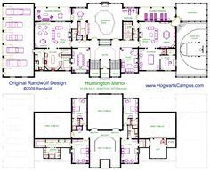 Hogwarts Floor Plan Harry Potter In 2020 Mansion Floor Plan Floor Plans My House Plans