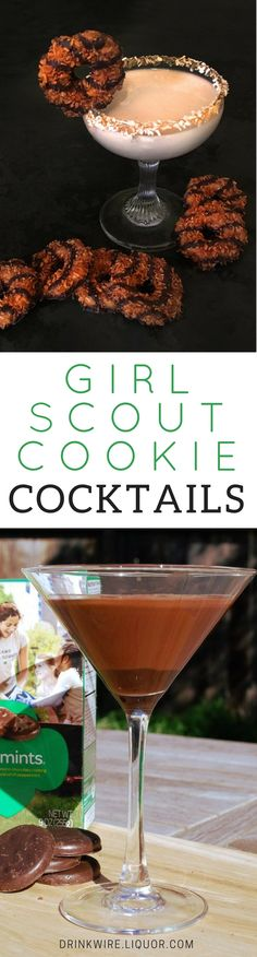 It's almost that time of year--Girl Scout Cookie time! While these famous cookies can get awfully addicting, their inspired cocktails are even better! So whether you're Team Thin Mint or Team Samoa, there's something here for you!