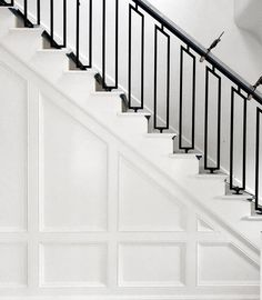 custom railing is up and installed in my Palm Beach project by J T D Staircase Railing Design, Modern Stair Railing, Wrought Iron Stair Railing, Balcony Railing Design, House Staircase, Stair Handrail, Modern Stairs, Railing Ideas, Staircases