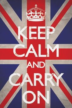 KEEP CALM AND CARRY ON - union  - Europosters