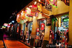 New Orleans Colorful Bourbon Street Souvenirs Editorial Stock Image