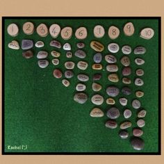 """Counting patterned stones from Rachel ("""",)"""