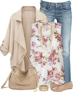 20 Cute Outfit Combinations With Floral Top