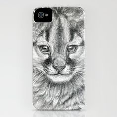 Cougar cub iPhone Case by S-Schukina - $35.00