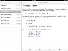 "Calca, a symbolic calculator for iOS, is sorta like a ""Markdown for math,"" according to @Greg Hartnett. $2.99"