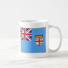 Fiji Flag  Map Mug Custom Office Retirement #office #retirement