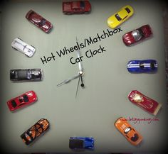 Hotwheels/Matchbox Car Clock | Let's Go Junking!