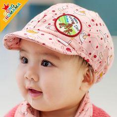 Spring 100% Cotton Baby Hats Kids Sunbonnet Sun Hats Child Baseball Hats