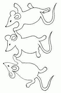 Modèles de souris à colorier