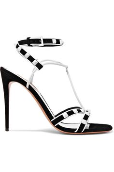 VALENTINO Rockstud 绒面革皮革凉鞋. #valentino #shoes #