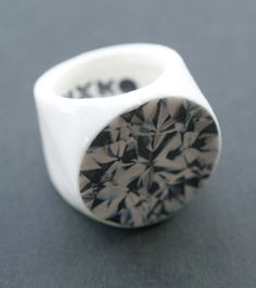 "porcelain ""diamond"" ring from MIXKO http://bklynbrideonline.com/6435/wedding-dress-and-jewelry/porcelain-rings-from-mixko/"