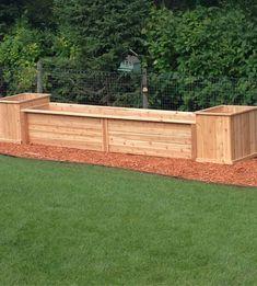 custom cedar planters
