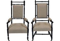 Louis XIII-Style Armchairs, Set of 2 on OneKingsLane.com