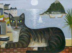 "Alan Furneaux (Cornish artist), ""Marazion Cat"""