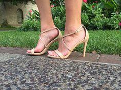 Rehearsal Dinner Dress | High Heel Hydrangeas  Nude Sandals by Steve Madden  instagram.com/highheelhydrangeas