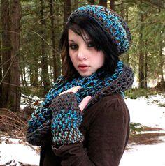 SET WATER Rasta Love Cowl Hood Vegan scarf por HookedWear en Etsy