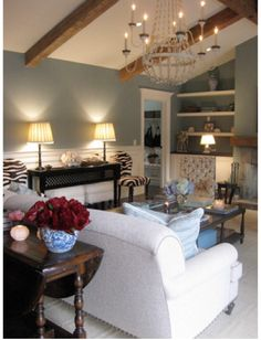 beautiful blue living room found on Ada and Darcy: Interiors