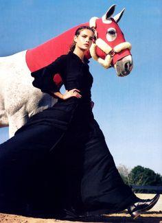 Natalia Vodianova in A Grand Affair | Steven Klein + Grace Coddington for Vogue US September 2005