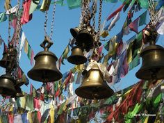 bells and prayer flags for the fairy garden and sitting area south of the house Love Bells, Ring My Bell, Prayer Flags, World Religions, Buddhism, Animal Kingdom, That Way, Wind Chimes, Dream Catcher