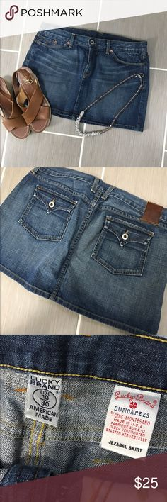 Lucky Brand Jean Skirt - Size 10 - NWOT Lucky Brand Jean Skirt!  Size 10/30.  Must have for your collection.  Never Worn.  Decided it was a little too short with my long legs. Lucky Brand Skirts Mini