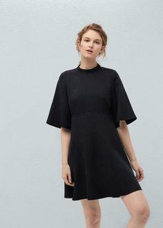 Yumuşak kumaştan elbise - Elbise - Kadın   MANGO Türkiye